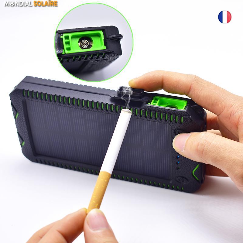 BATTERIE SOLAIRE GRANDE CAPACITE PUISSANTE-20000mah USB