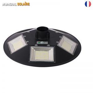 Lampadaire solaire LED cylindre 360° avec détecteur de mouvement